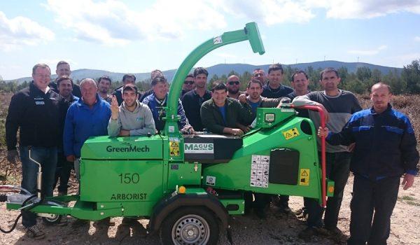 NP Krka - Isporuka stroja GreenMech Arborist 150