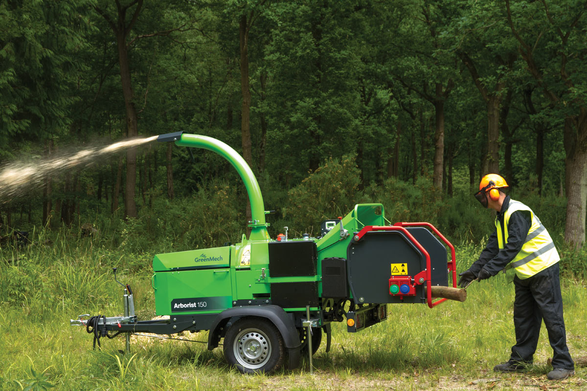 Zbrinjavanje drvene mase sa strojem Arborist 150